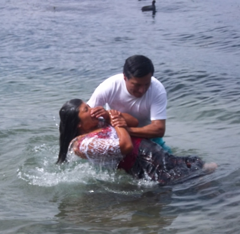 Baptism in Lake Atitlan