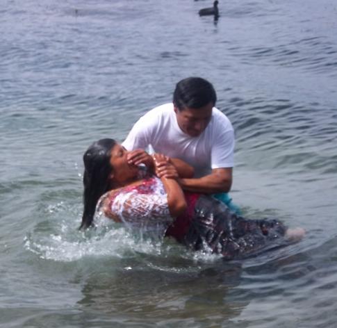 Baptism in Lake Atitlan